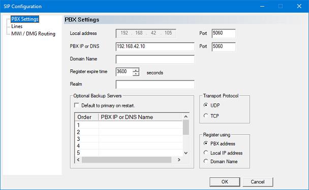 SIP Configuration [DuVoice]